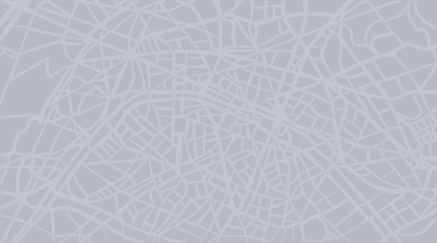 A stylized map used as the background for the POS-Finder.
